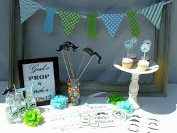 simple baby shower centerpieces ideas decorating bibs blocks station diy for a girl boy kits
