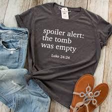 Christian Summer Camp T Shirt Designs Spoiler Alert The Tomb Was Empty Short Sleeve Shirt