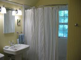 distinctive curved shower curtain rod ideas