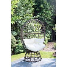 hanging wicker egg chair rattan outdoor furniture with stand hanging