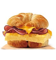 ham egg cheese croissan wich