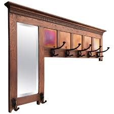 Arts And Crafts Coat Rack New Early 32th Century Arts And Crafts Oak Coat Rack Mirror And