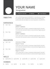 This type of cv template is also useful. 35 Sample Cv Templates Pdf Doc Free Premium Templates