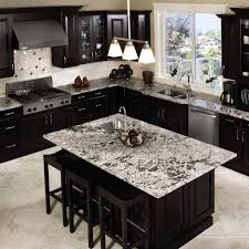 black kitchen cabinets with white marble countertops. Inspiring Ideas For Black Kitchen Cabinets With Marble Countertops And Dining Table White