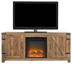 barn door fireplace tv stand barnwood 58 rustic entertainment centers