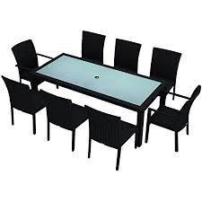 Boma coffee table by kettal. Amazon Com Harmonia Living Urbana 9 Piece Dining Set Coffee Bean Table Chair Sets