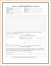 Contract Bid Proposal Free Contractor Proposal Form Glamorous Bid Proposal Template Word