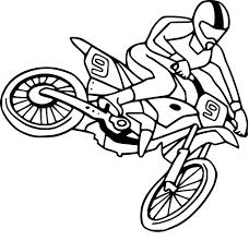 Coloriage Moto Cross Dessin Imprimer Sur Coloriages Info