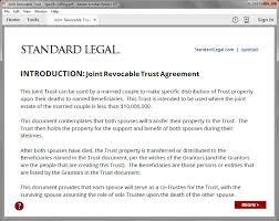 Revocable LIVING TRUST Legal Forms Software | Standard Legal