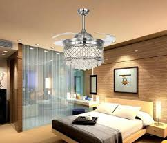 2018 2016 new crystal chandelisers led lighting fans invisible inside ceiling fans with led lights