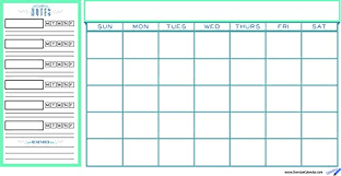 College Student Planner And Wall Calendar Teal Monthly Calendar