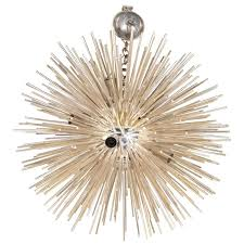 italian late 20th century silver sputnik chandelier for