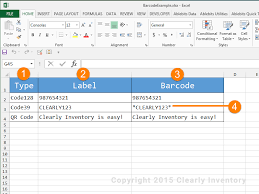 How To Create An Inventory System In Excel How To Print Barcodes With Excel And Word Clearly Inventory