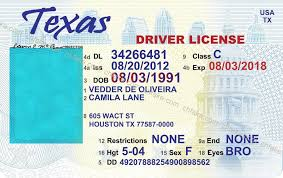 Texas Fake Printable Template Drivers - License Free Beepmunk Download