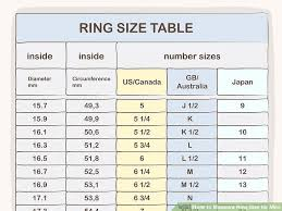 Mens Online Ring Size Chart 3 Ways To Measure Ring Size For Men Wikihow