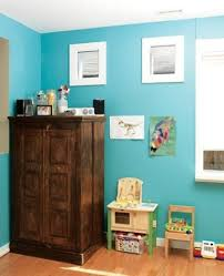 kids organization furniture. antique storage furniture and bright blue wall paint for kids bedroom decor organization a