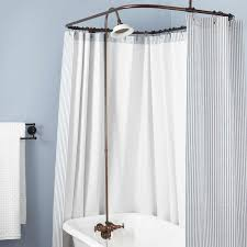 how to keep water in clawfoot tub home decor shower curtain rod you can make yourself