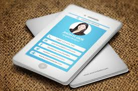 Iphone Style Business Card Business Card Templates Creative Market