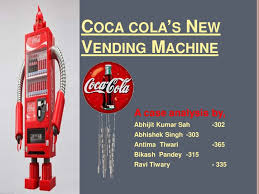 New Coca Cola Vending Machine