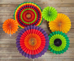 Paper Flower Kit Fiesta Paper Flower Pinwheel Backdrop Party Wall Decoration Combo Kit On Sale Now