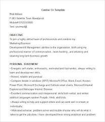 Resume Sample Formats Template Example Cv Doc – Creer.pro