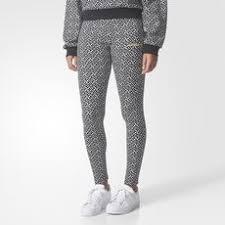 adidas leggings womens. adidas - allover print leggings white / black br0311 womens r