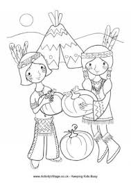 Small Picture Thanksgiving Colouring Pages