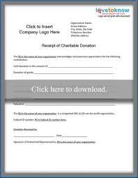 Charitable Donation Receipt Lovetoknow