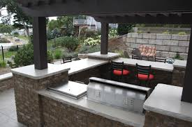 Awesome Outdoor Kitchen Counter Gallery Amazing Design Ideas - Outdoor kitchen countertop ideas