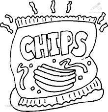1001 Kleurplaten Eten En Drinken Eten Kleurplaat Chips