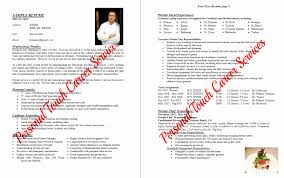 Personal Chef Resume Sample Resume Online Builder