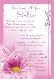 Dear sister in heaven memorial poem . .in loving memory | Sister ... via Relatably.com