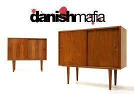 mid century danish modern teak credenza sideboard eames  danish mafia