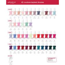 Essie Gel Colors Chart Essie Gel Couture Top Coat 0 46 Oz No Lamp Easy Soak Free Removal 14 Day Wear
