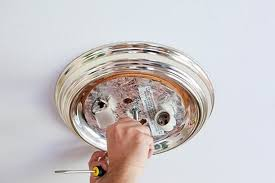 how to remove a light fixture light