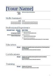 Sample Resume Models Resume Template Directory