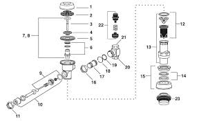 Sloan Royal Flushometer Parts Breakdown Diagrams Old New