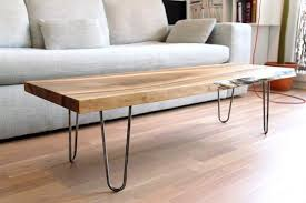 mediun size of knockout sold live edge solid walnut coffee table on hairpin legs il full