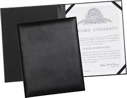 black leather certificate holder presentation holder