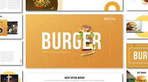 Food Presentation Template Special Burger Free Presentation Template Food