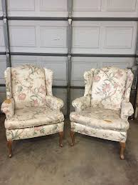 two vintage thomasville wingback chairs pennsylvania house