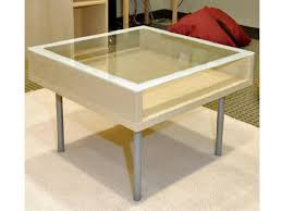 shadow glass top coffee table ikea below glasses simple perfect furniture wooden industrial