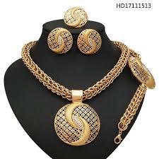 yulaili 2017 high quality latest design fashion jewelry sets 22k gold jewellery dubai