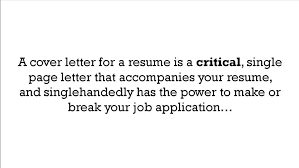 What Is A Resume Custom What Is A Cover Letter For A Resume YouTube