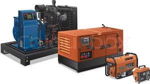 industrial power generators. Illustration Of Different Type Industrial Power Generators, Vector Generators