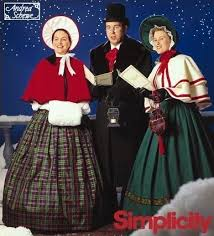Rare <b>CHRISTMAS</b> CAROLERS Sewing <b>Pattern</b> - Charles Dickens ...