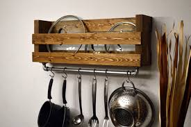 make a pot rack for the wall