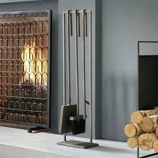 modern fireplace tools 3 piece bend metal standing fireplace tool set modern fireplace tools australia