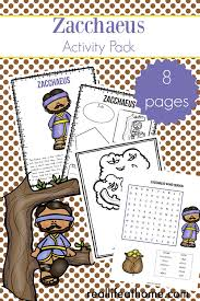 They can serve as a great take home activity. Zacchaeus Story For Kids Free Zacchaeus Printables Packet For Elementary Students