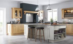 classic contemporary style wakefield oak kitchen with painted stone